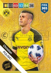 PANINI FIFA 365 ADRENALYN XL 2019 LIMITED EDITION CHRISTIAN PULISIC