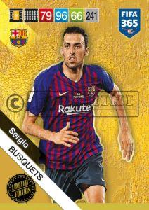 PANINI FIFA 365 ADRENALYN XL 2019 LIMITED EDITION SERGIO BUSQUETS