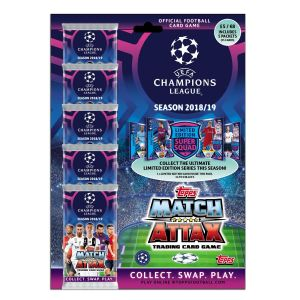 TOPPS CHAMPIONS LEAGUE 2018-19 MULTIPACK 5 POCHETTES