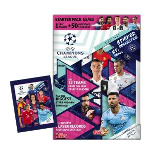 TOPPS CHAMPIONS LEAGUE 2018-19 STICKERS STARTER PACK