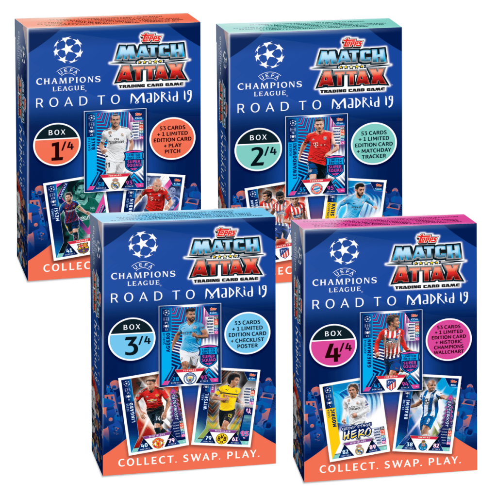 TOPPS CHAMPIONS LEAGUE ROAD TO MADRID 19 BOX