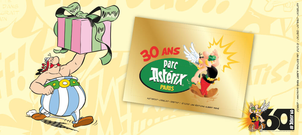 PANINI CARREFOUR 60 ANS ASTERIX TICKET GAGNANT