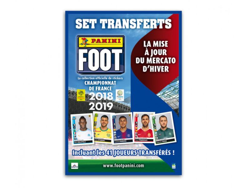 PANINI FOOT LIGUE 1 STICKERS 2018-2019 SET TRANSFERTS