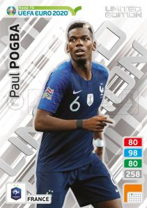 PANINI ROAD TO UEFA EURO 2020 ADRENALYN XL PAUL POGBA
