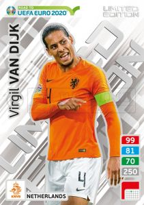 PANINI ROAD TO UEFA EURO 2020 ADRENALYN XL VIRGIL VAN DIJK