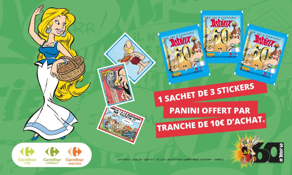 PANINI CARREFOUR 60 ANS ASTERIX POCHETTE POUR 10 EUROS