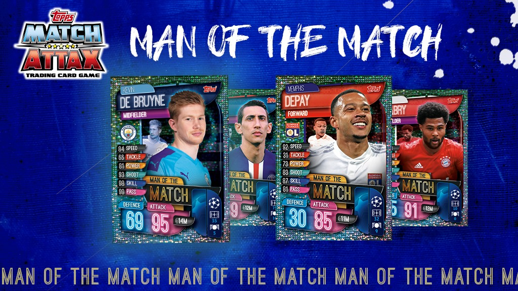 TOPPS CHAMPIONS LEAGUE 2019-20 VISUELS MAN OF THE MATCH