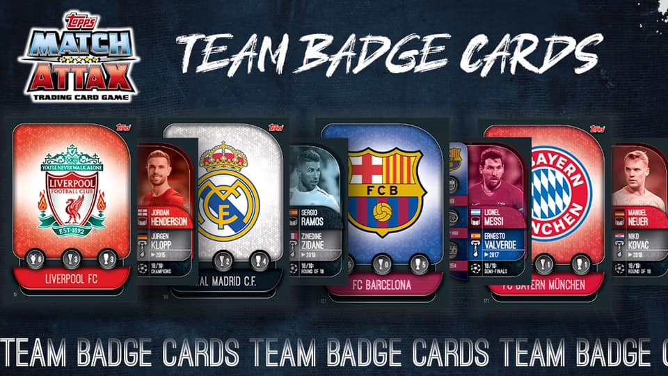 TOPPS CHAMPIONS LEAGUE 2019-20 VISUELS TEAM BADGE CARDS