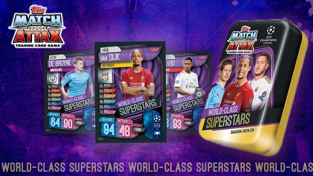 TOPPS CHAMPIONS LEAGUE 2019-20 VISUELS WORLD CLASS SUPERSTARS