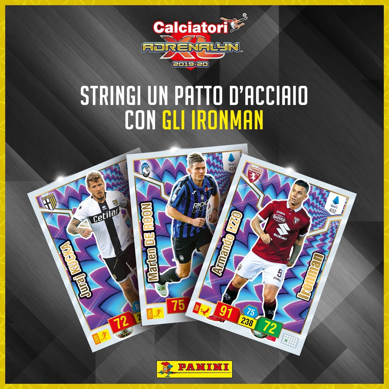 PANINI ADRENALYN XL CALCIATORI 2019-20 ANNONCE TWITTER CARTES IRON MAN.png