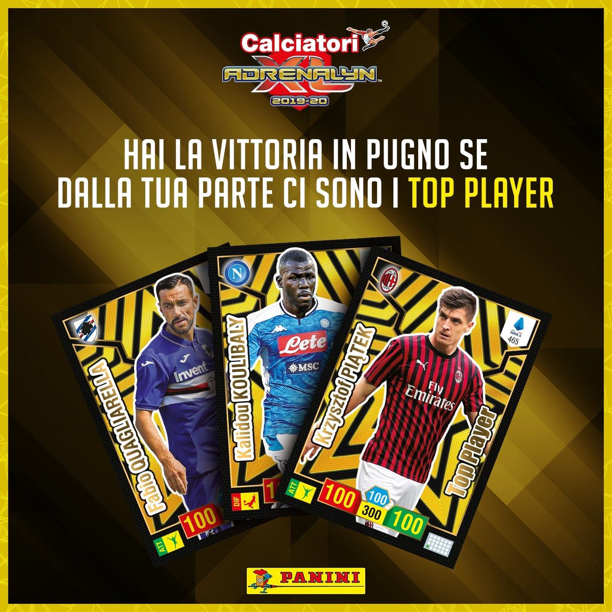 PANINI ADRENALYN XL CALCIATORI 2019-20 ANNONCE TWITTER CARTES TOP PLAYER