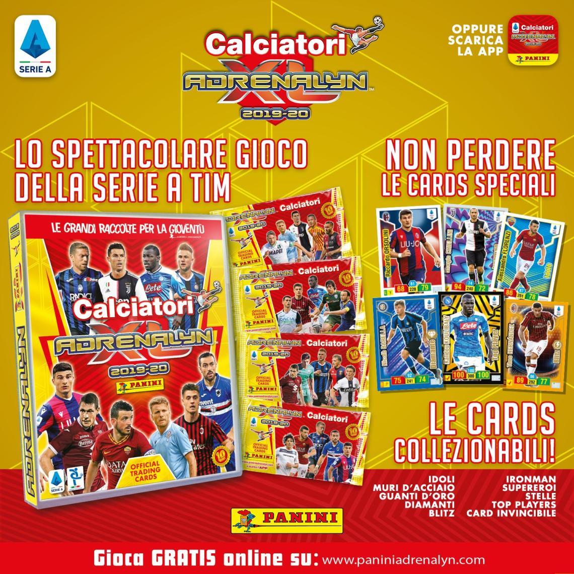 PANINI ADRENALYN XL CALCIATORI 2019-20 ANNONCE TWITTER GENERAL
