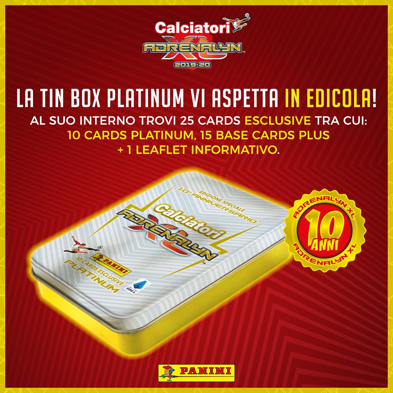 PANINI ADRENALYN XL CALCIATORI 2019-20 ANNONCE TWITTER TIN BOX PLATINUM