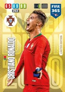 PANINI ADRENALYN XL FIFA 365 2020 LIMITED EDITION RONALDO