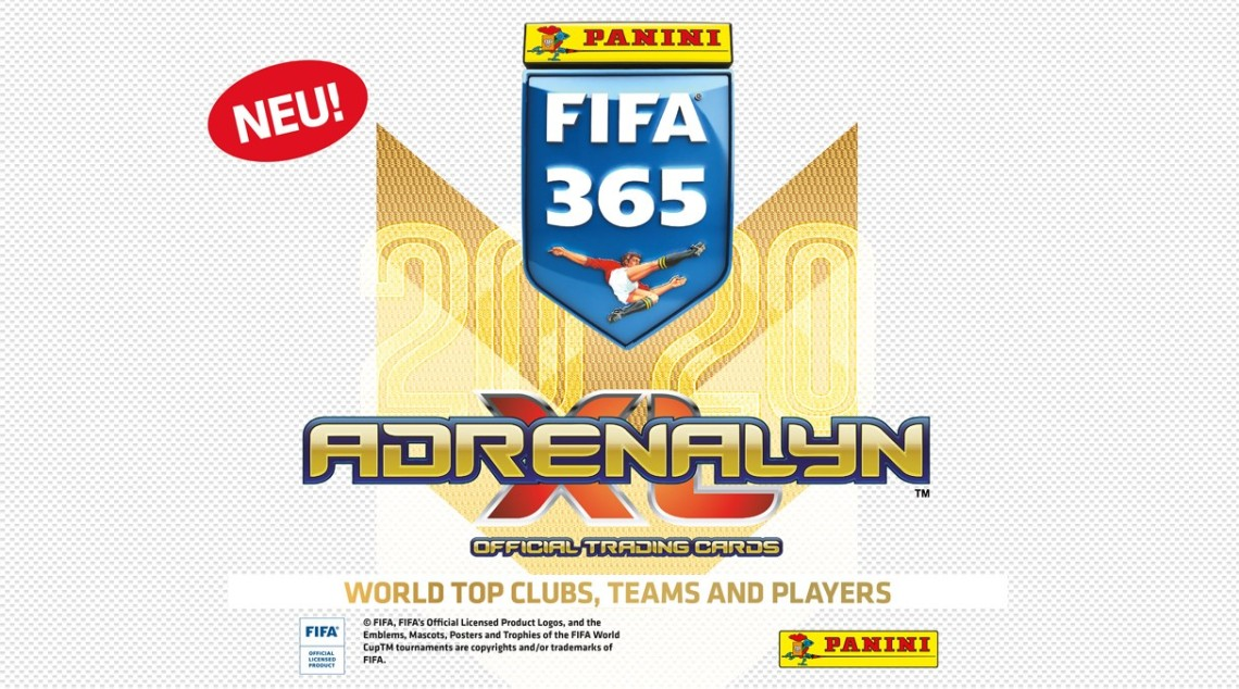 PANINI FIFA 365 ADRENALYN XL 2020 AFFICHE SITE ALLEMAGNE