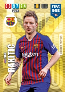 PANINI FIFA 365 ADRENALYN XL 2020 CARTE LIMITED EDITION RAKITIC