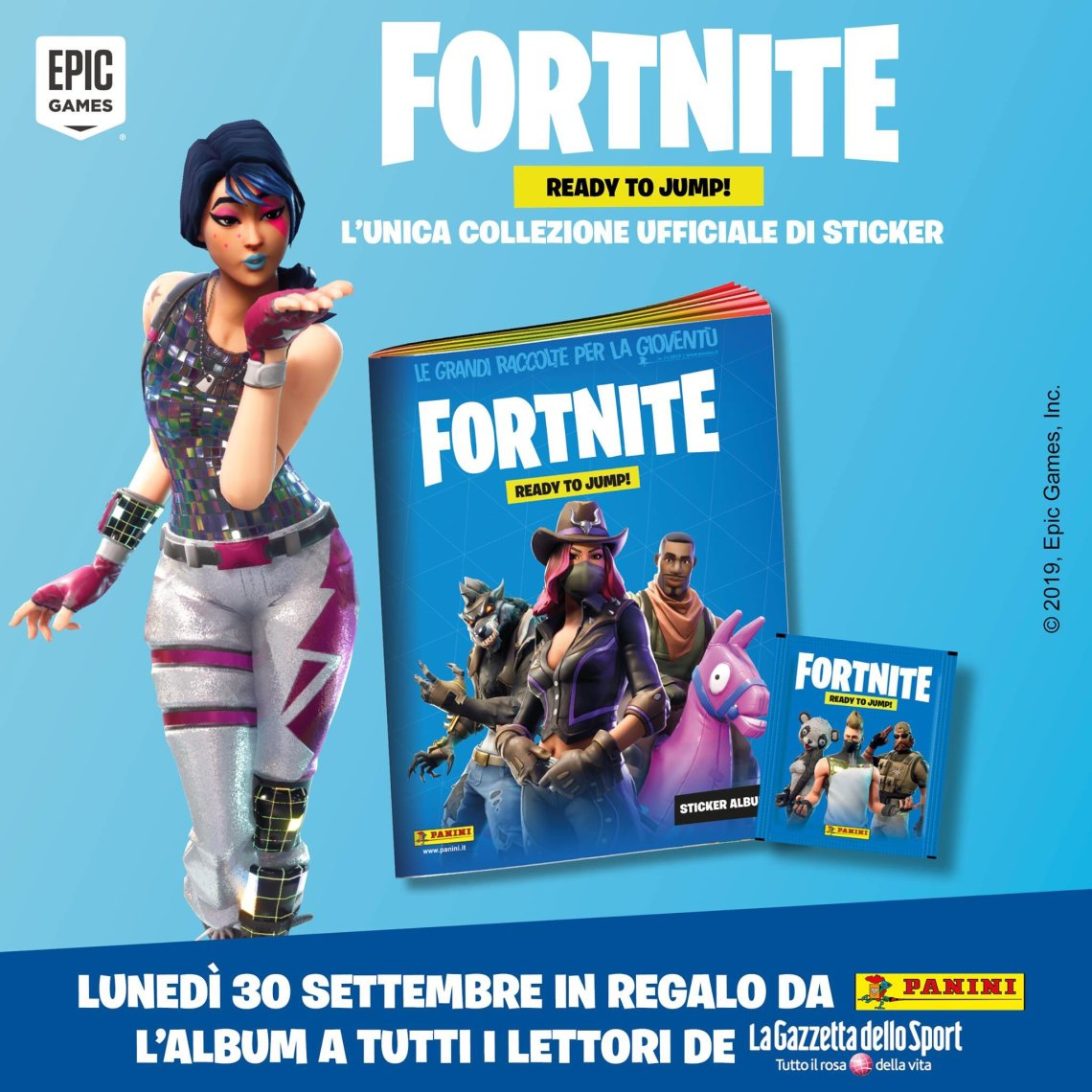 PANINI FORTNITE STICKERS ANNONCE TWITTER ITALIE