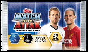 TOPPS MATCH ATTAX CHAMPIONS LEAGUE 2019-20 POCHETTE 15 CARTES 01
