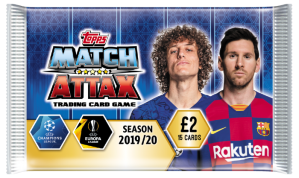 TOPPS MATCH ATTAX CHAMPIONS LEAGUE 2019-20 POCHETTE 15 CARTES 02