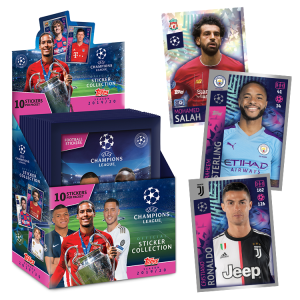 TOPPS UEFA CHAMPIONS LEAGUE STICKERS 2019-20 BOITE 20 POCHETTES