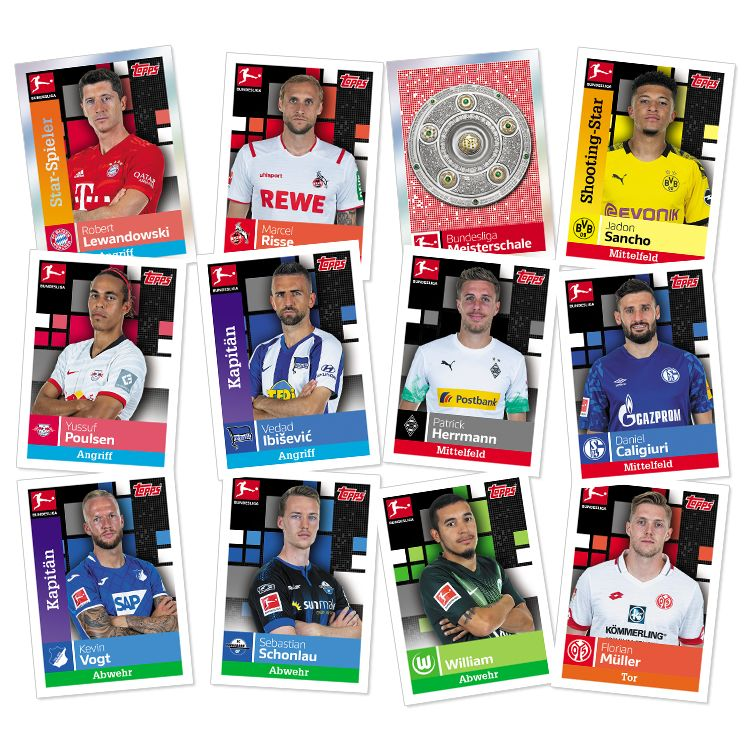 TOPPS BUNDESLIGA STICKERS 19-20 EXEMPLES STICKERS