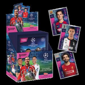 TOPPS UEFA CHAMPIONS LEAGUE STICKERS 2019-20 BOITE 30 POCHETTES FR