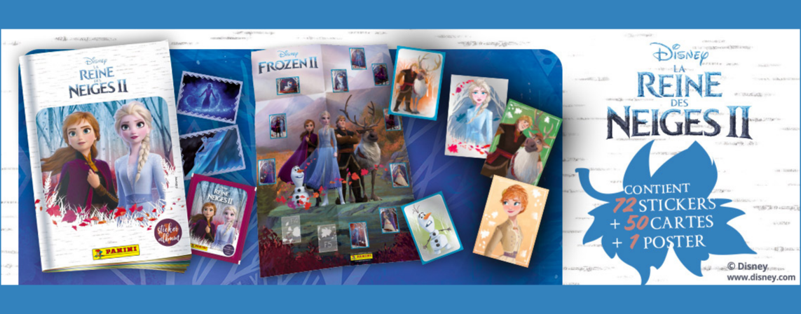 PANINI carte 76-Disney Frozen la reine 2 cartes de collection série 2019