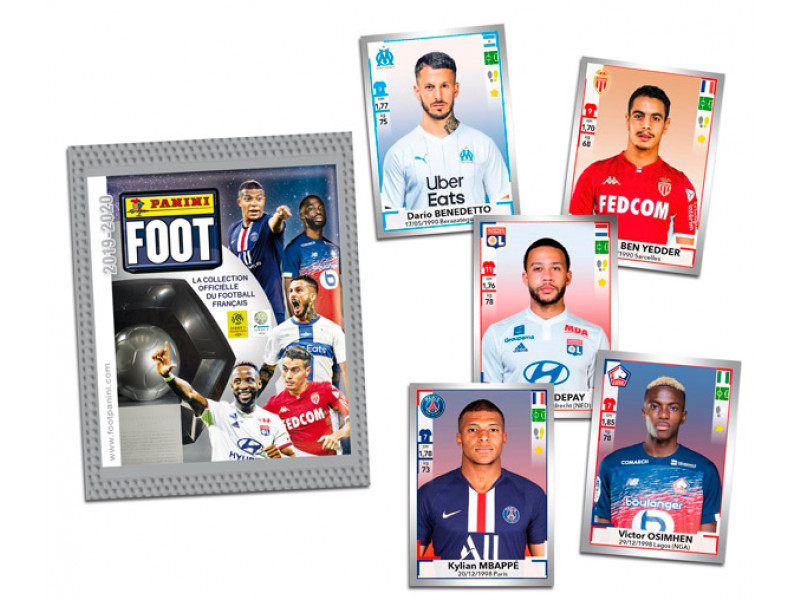PANINI FOOT 2019-2020 STICKERS EXEMPLES STICKERS