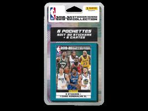 PANINI NBA 2019-20 STICKERS ET CARTES BLISTER 6 POCHETTES