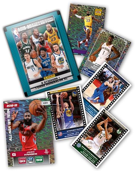 PANINI NBA 2019-20 STICKERS ET CARTES VUE GENERALE