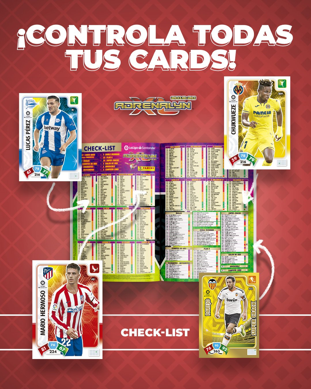 PANINI ADRENALYN XL LIGA 2019-20 ANNONCE TWITTER CHECKLIST