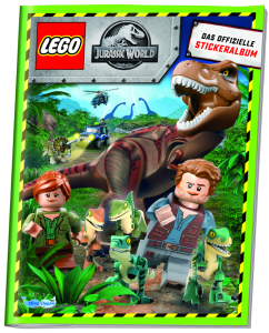 BLUE OCEAN LEGO JURASSIC WORLD STICKERS ALBUM