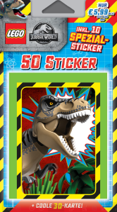 BLUE OCEAN LEGO JURASSIC WORLD STICKERS BLISTER