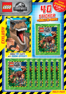 BLUE OCEAN LEGO JURASSIC WORLD STICKERS MULTIPACK