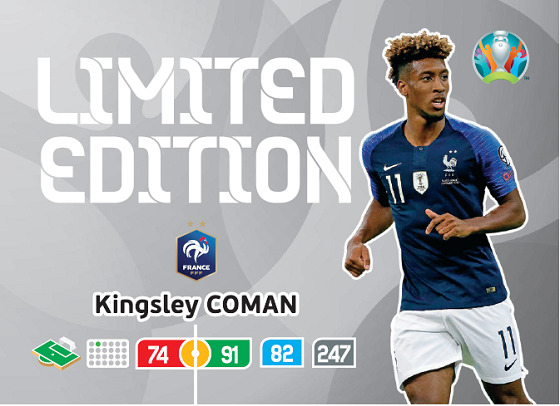 PANINI ADRENALYN XL EURO 2020 CARTE LIMITED EDITION COMAN