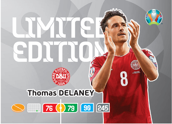 PANINI ADRENALYN XL EURO 2020 CARTE LIMITED EDITION DELANEY