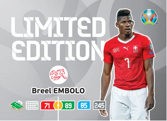 PANINI ADRENALYN XL EURO 2020 CARTE LIMITED EDITION EMBOLO