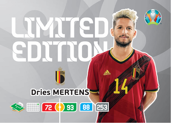 PANINI ADRENALYN XL EURO 2020 CARTE LIMITED EDITION MERTENS