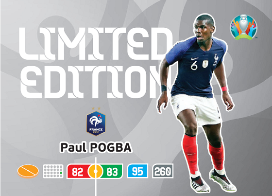 PANINI ADRENALYN XL EURO 2020 CARTE LIMITED EDITION POGBA