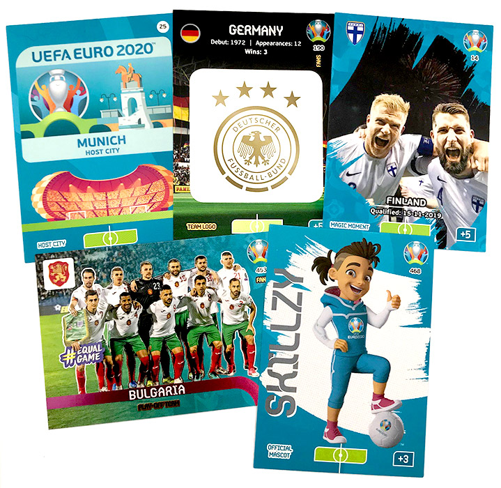 PANINI ADRENALYN XL EURO 2020 CARTES EXEMPLES 01