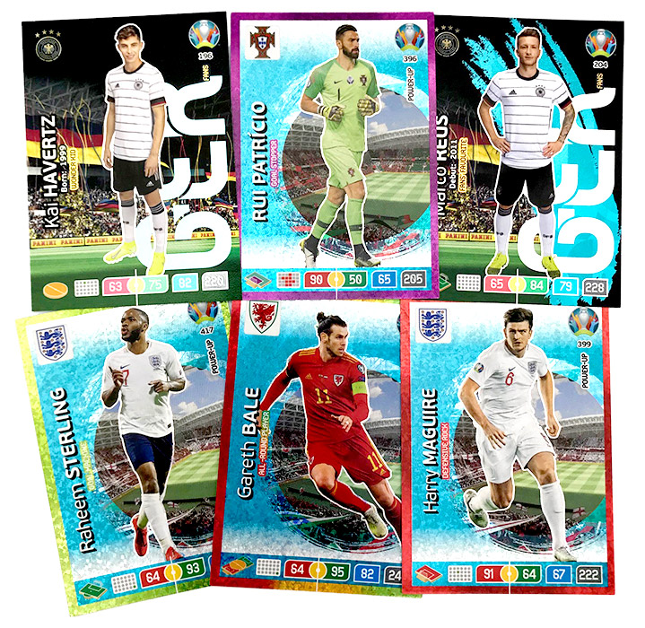 PANINI ADRENALYN XL EURO 2020 CARTES EXEMPLES 02