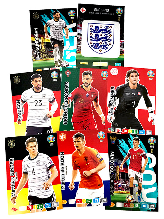 PANINI ADRENALYN XL EURO 2020 CARTES EXEMPLES 03