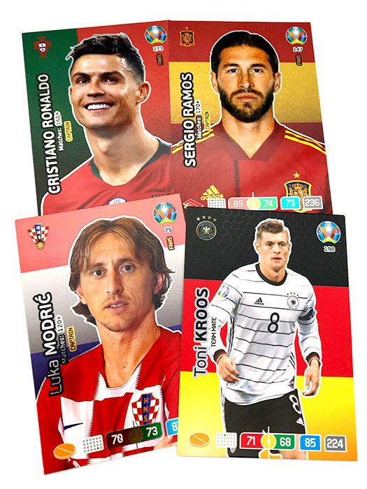 PANINI ADRENALYN XL EURO 2020 CARTES FANS CAPTAIN