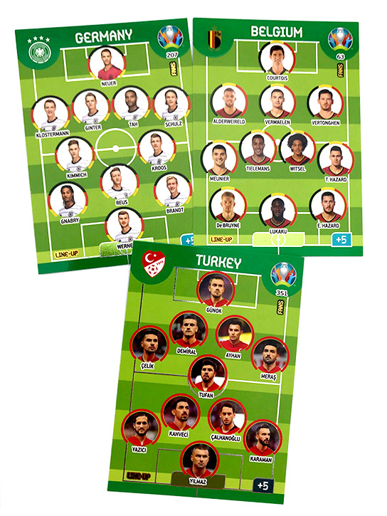 PANINI ADRENALYN XL EURO 2020 CARTES FANS LINE-UP