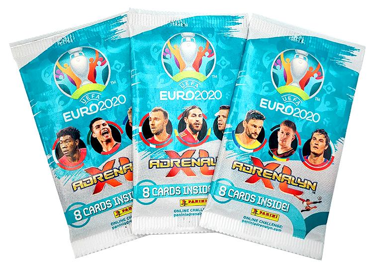 PANINI ADRENALYN XL EURO 2020 MODELE DES 3 POCHETTES