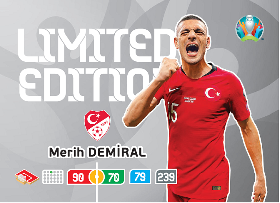 PANINI ADRENALYN XL UEFA EURO 2020 CARTE LIMITED EDITION DEMIRAL
