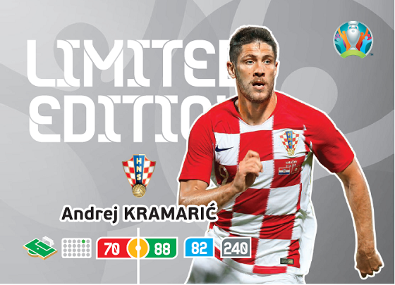 PANINI ADRENALYN XL UEFA EURO 2020 CARTE LIMITED EDITION KRAMARIC