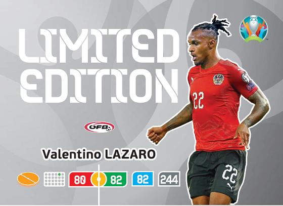 PANINI ADRENALYN XL UEFA EURO 2020 CARTE LIMITED EDITION LAZARO