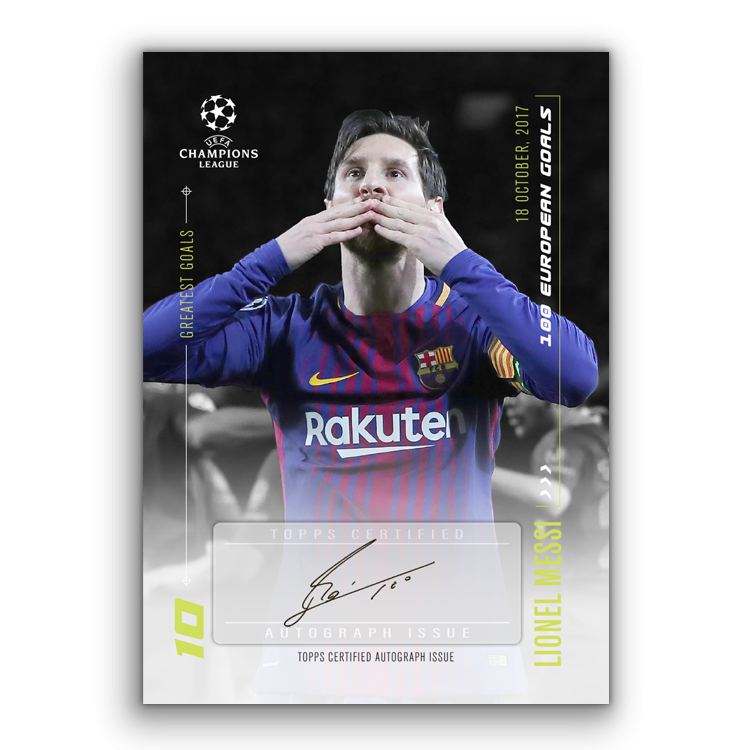 TOPPS DESIGNED BY LIONEL MESSI CARTE AUTOGRAPHE 01