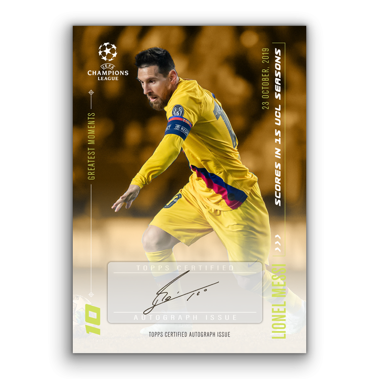 TOPPS DESIGNED BY LIONEL MESSI CARTE AUTOGRAPHE 02